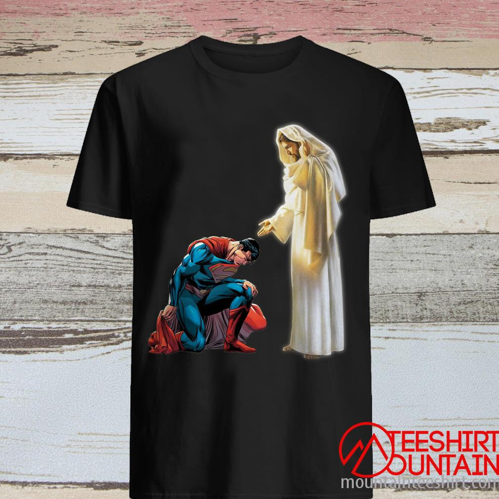 Superman Kneel Before Jesus Shirt