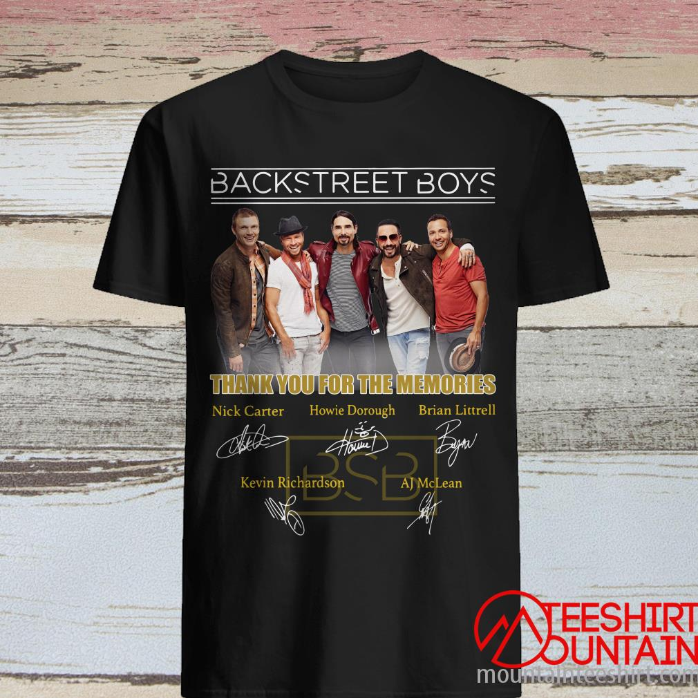 BSB Backstreet Boys Thank You For The Memories Signature Shirt