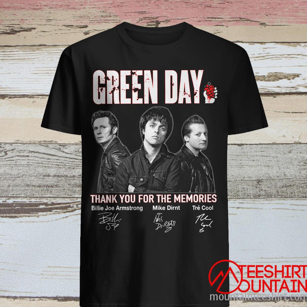 Green Day Thank You For The Memories Signature Shirt