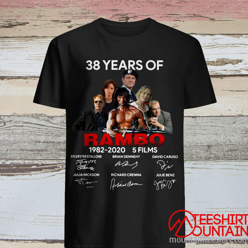 38 Years Of Rambo 1982-2020 5 Films Signature Shirt