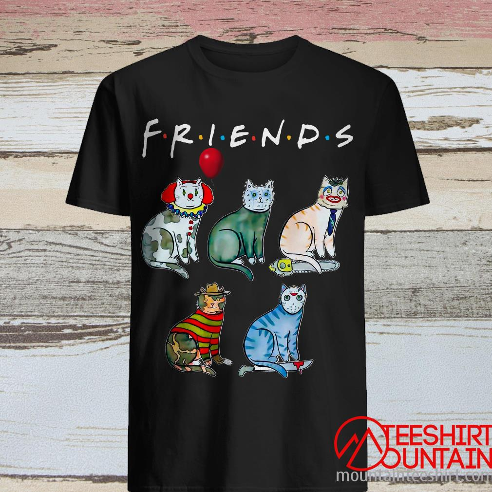 Cats Style Horror Characters Friends Shirt