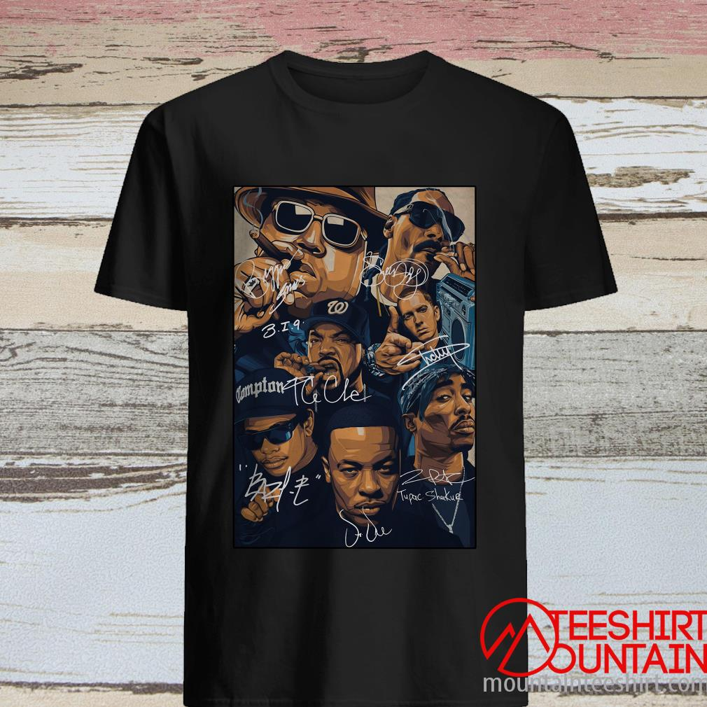 West Coast Hip Hop Poster Signatures American Rappers Shirt