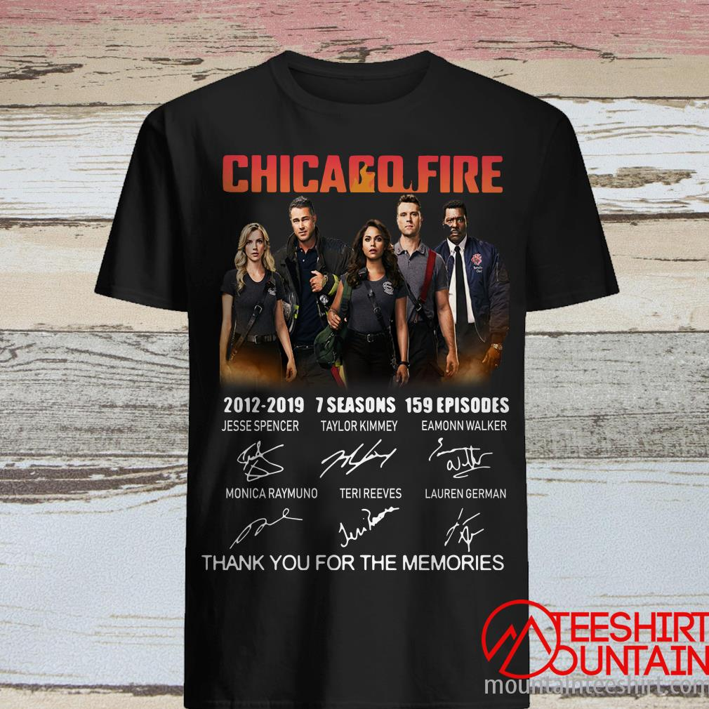Chicago Fire 2012-2019 7 Seasons 159 Episodes Signatures Shirt