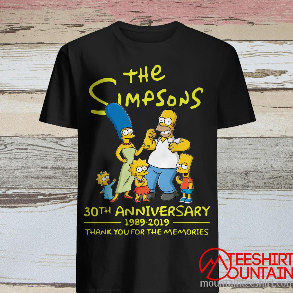 The Simpsons 30th Anniversary 1989-2019 Thank You For The Memories Shirt