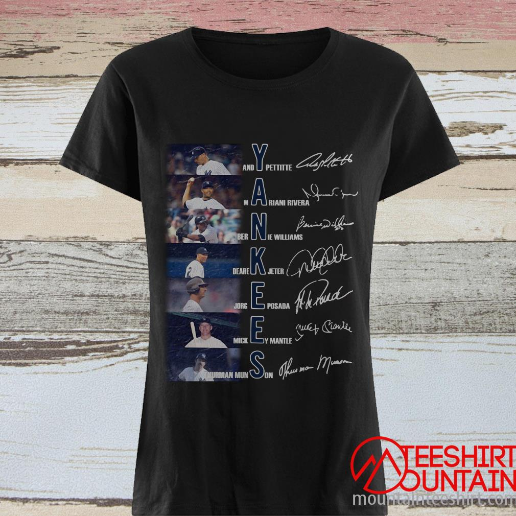 Yankees Andy Pettitte Mariano Rivera Bernie Williams Signature Shirt