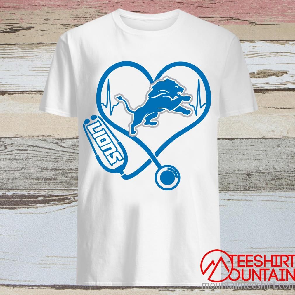 Stethoscope Detroit Lions Nurses Shirt