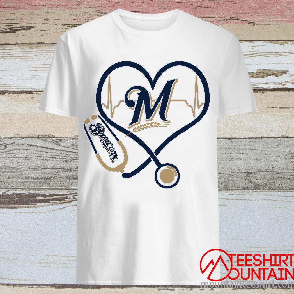 Stethoscope Milwaukee Brewers Nurses Shirt