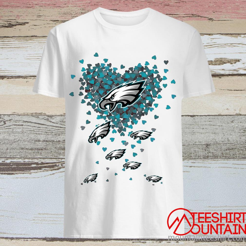 Philadelphia Eagles Butterfly Heart Shirt