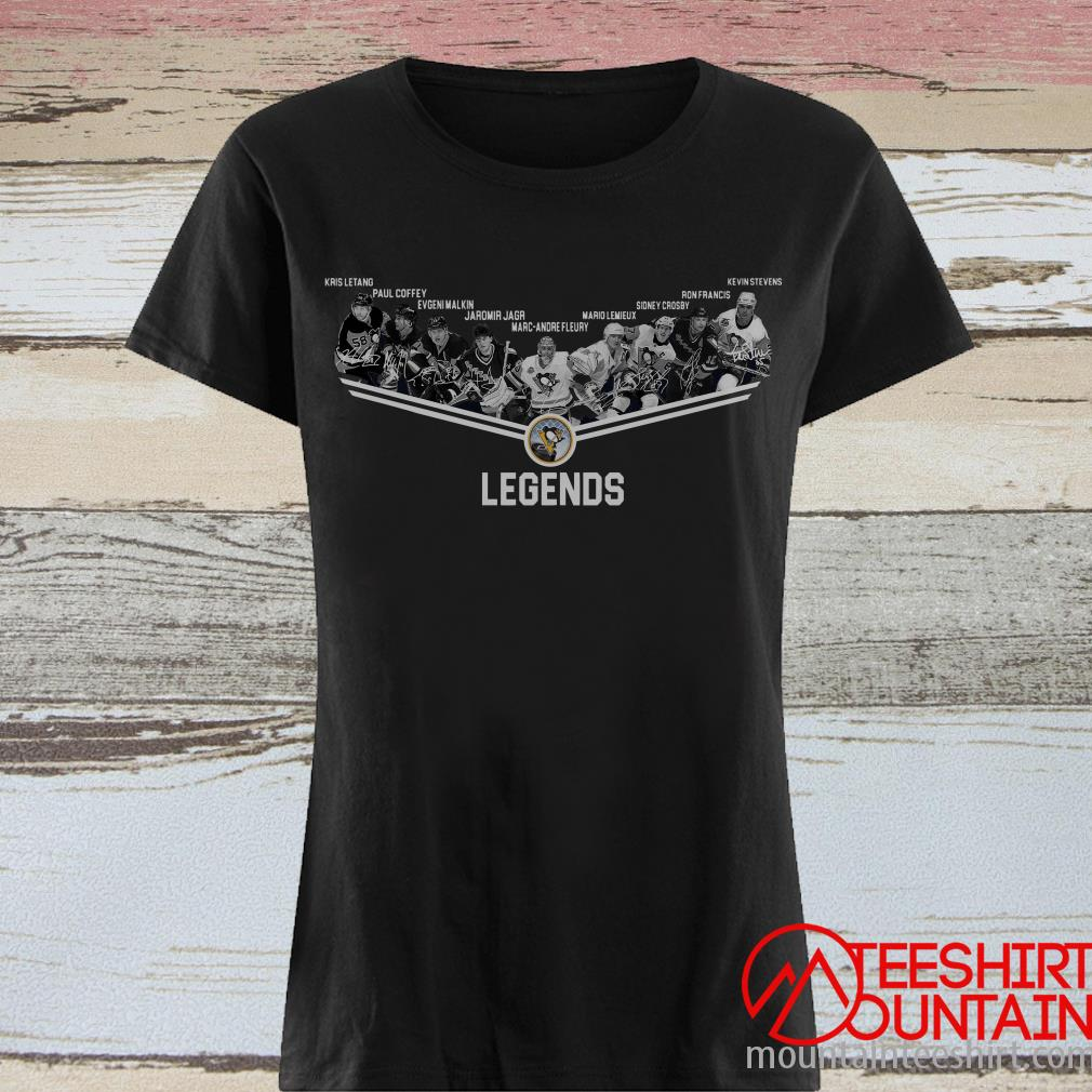 Pittsburgh Penguins Legends Team Player Signature Shirt