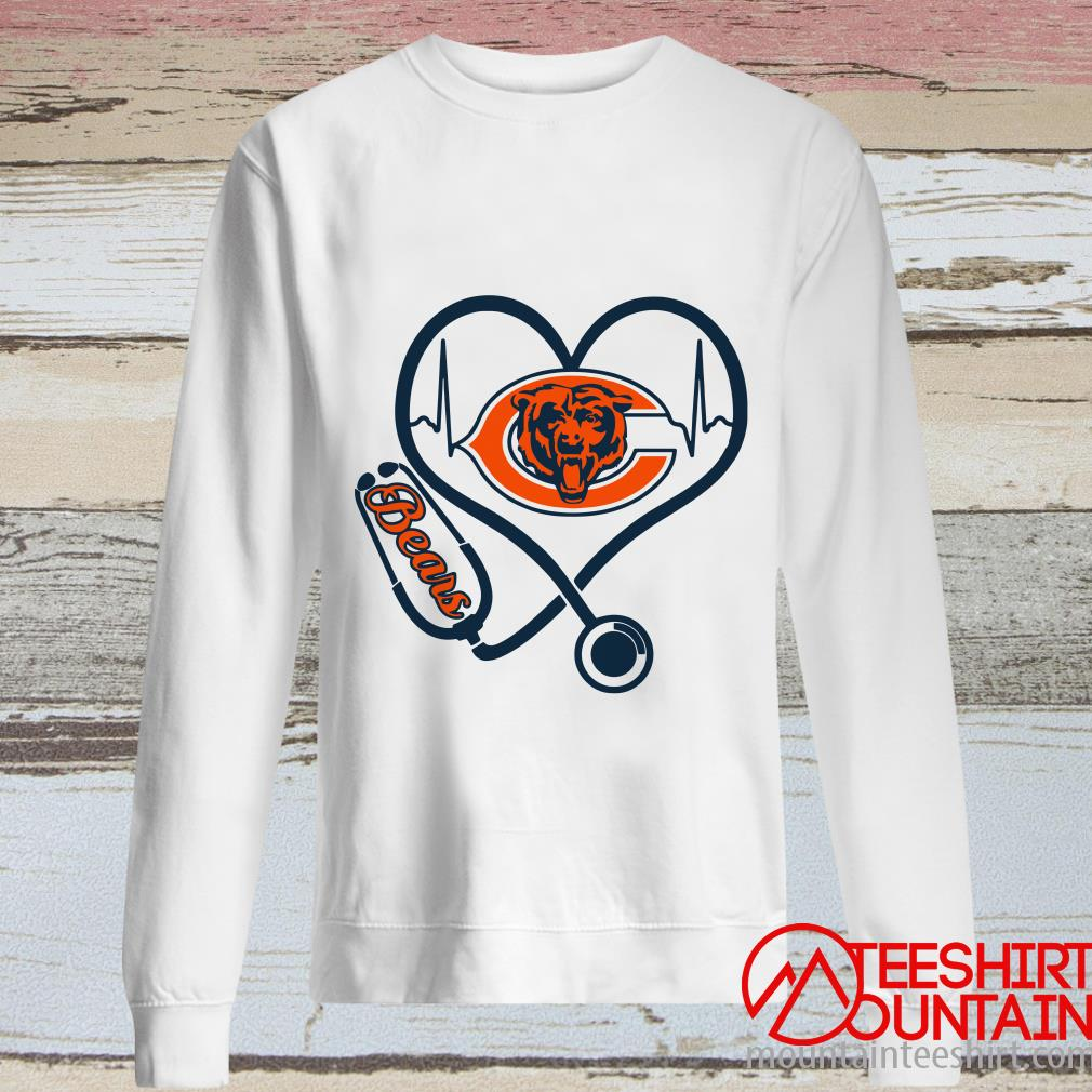 Stethoscope Chicago Bears Football Nurses Shirt
