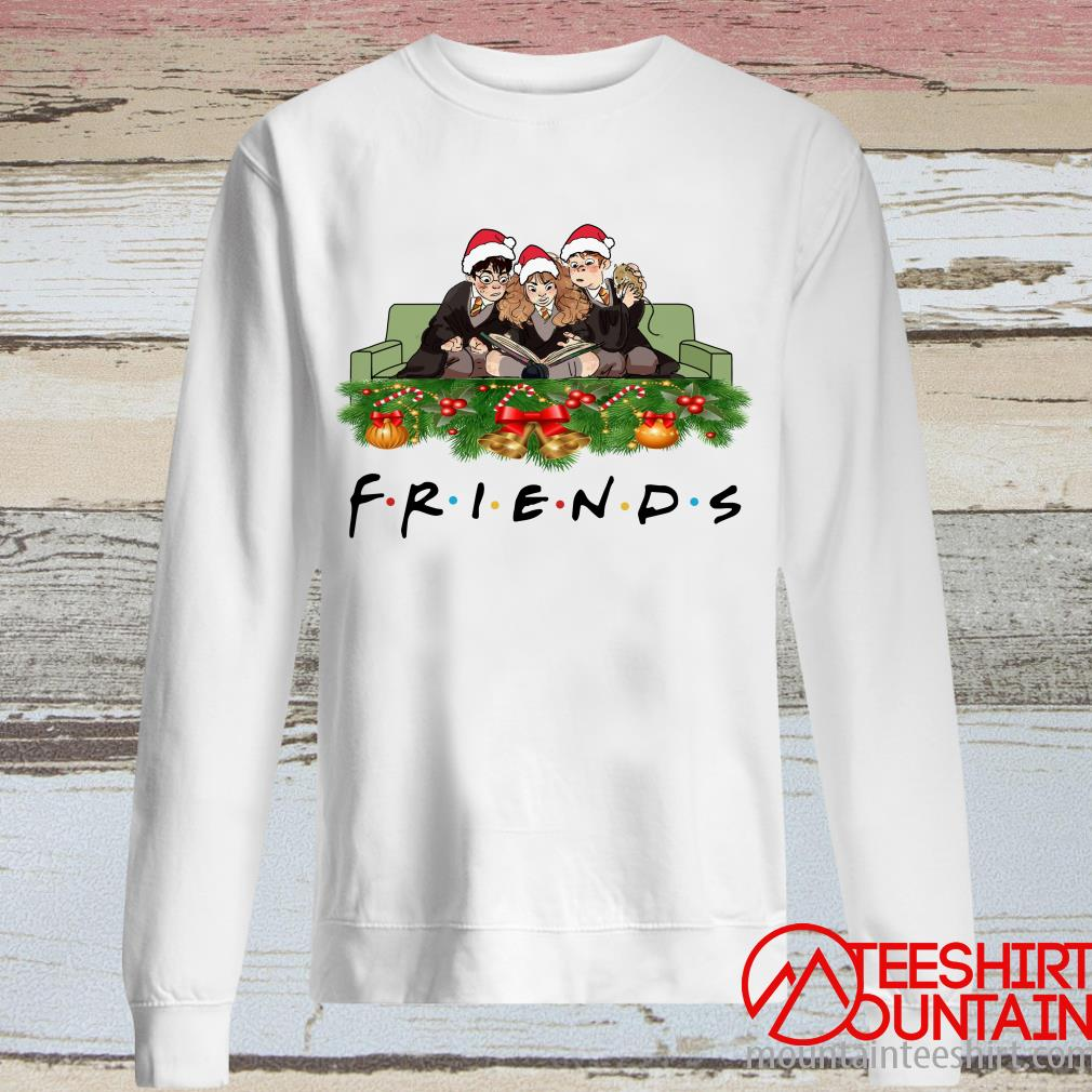 Official Harry Potter Hermione And Ron Weasley Christmas Friends Tv Show Sweatshirt