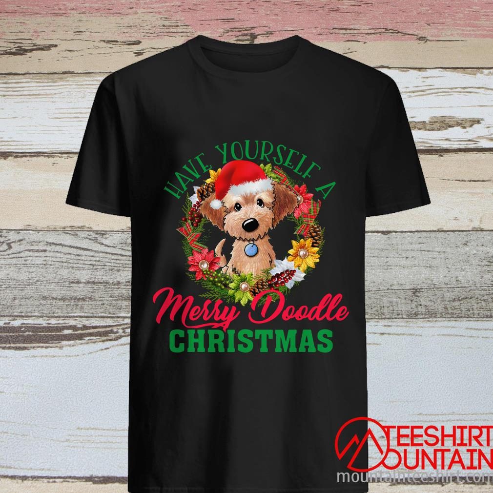 Have Yourself A Merry Doodle Christmas Goldendoodle Dog Love Shirt