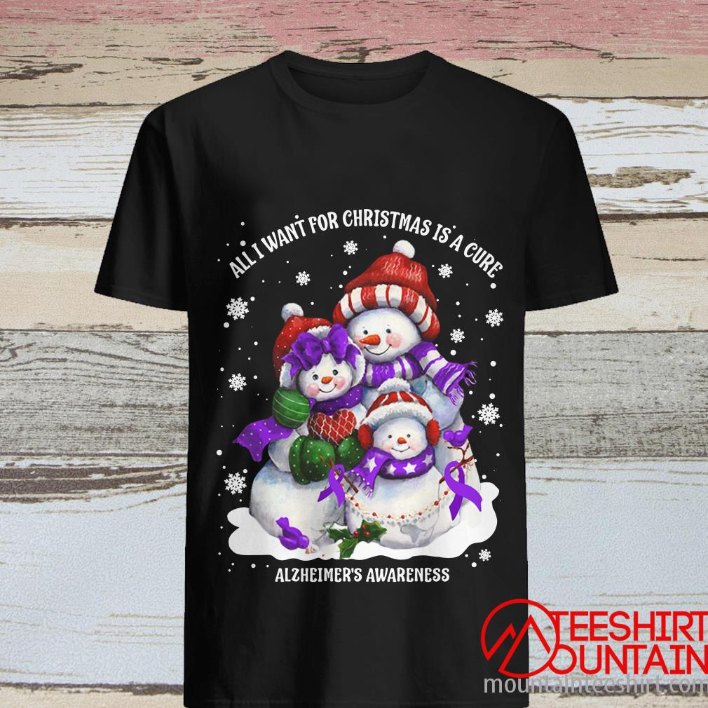 All I Want For Christmas Is A Cute Alzheimer's Awareness Shirt