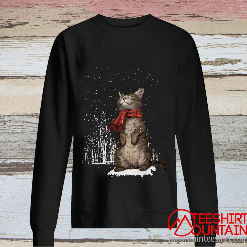 Merry Christmas Cat Sweatshirt