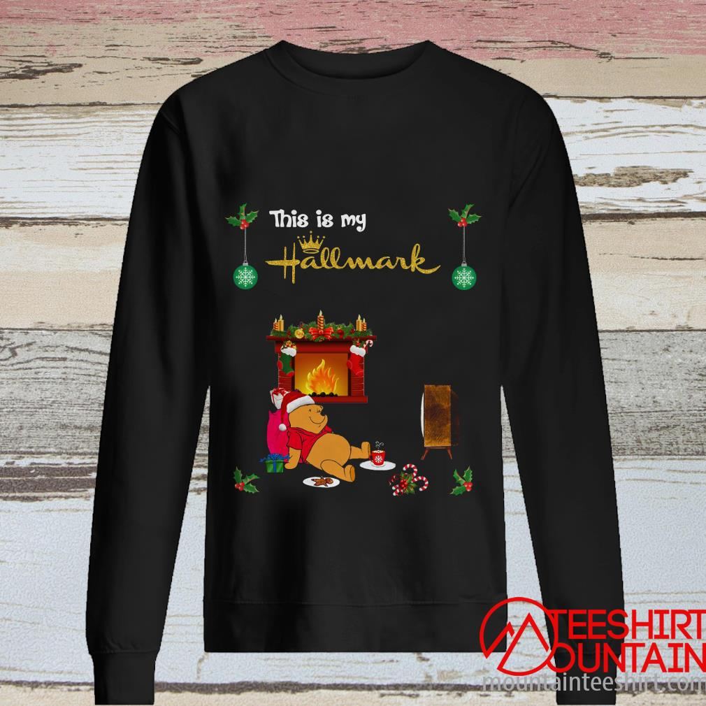 Pooh This Is My Hallmark Movie Watching Christmas Sweatshirt