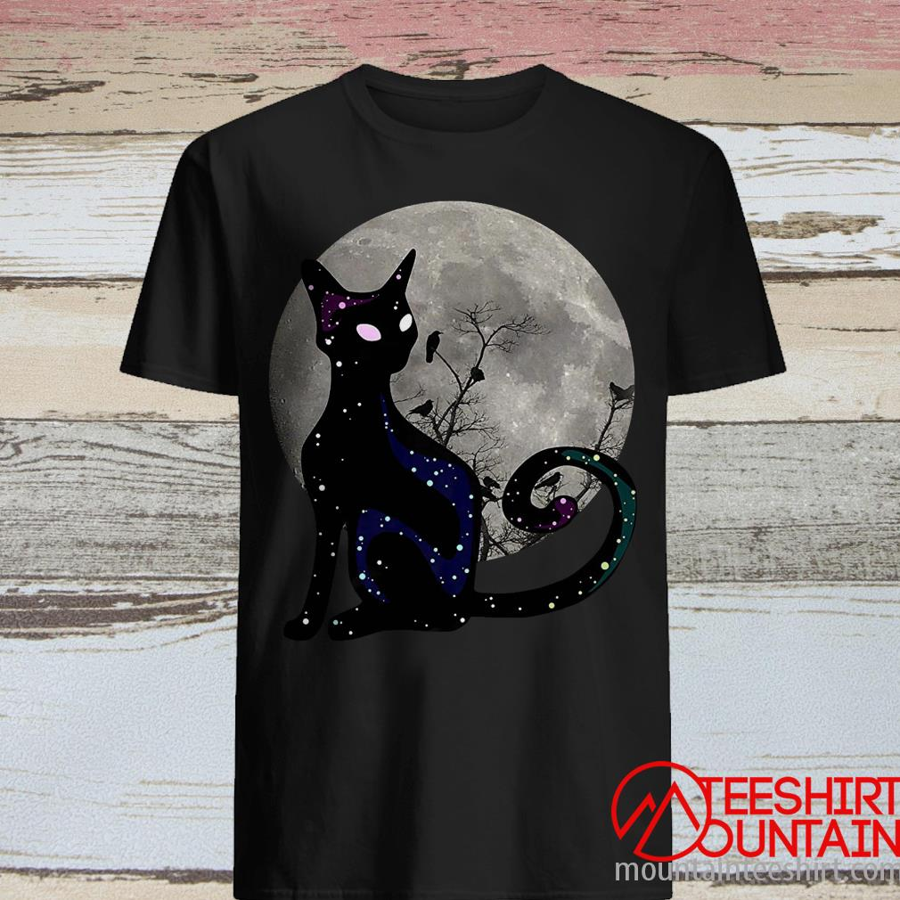 Black Cat Full Moon Halloween Shirt