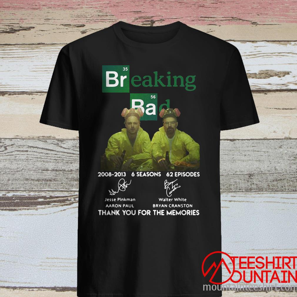 Breaking Bad 12th Anniversary Cast Signatures Shirt