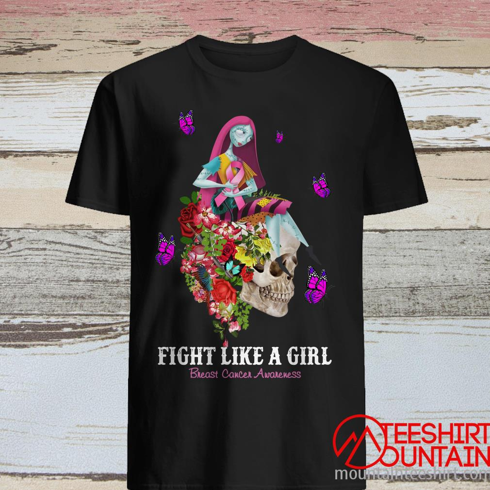 Skull Fight Like A Girl Breast Cancer Awareness Shirt