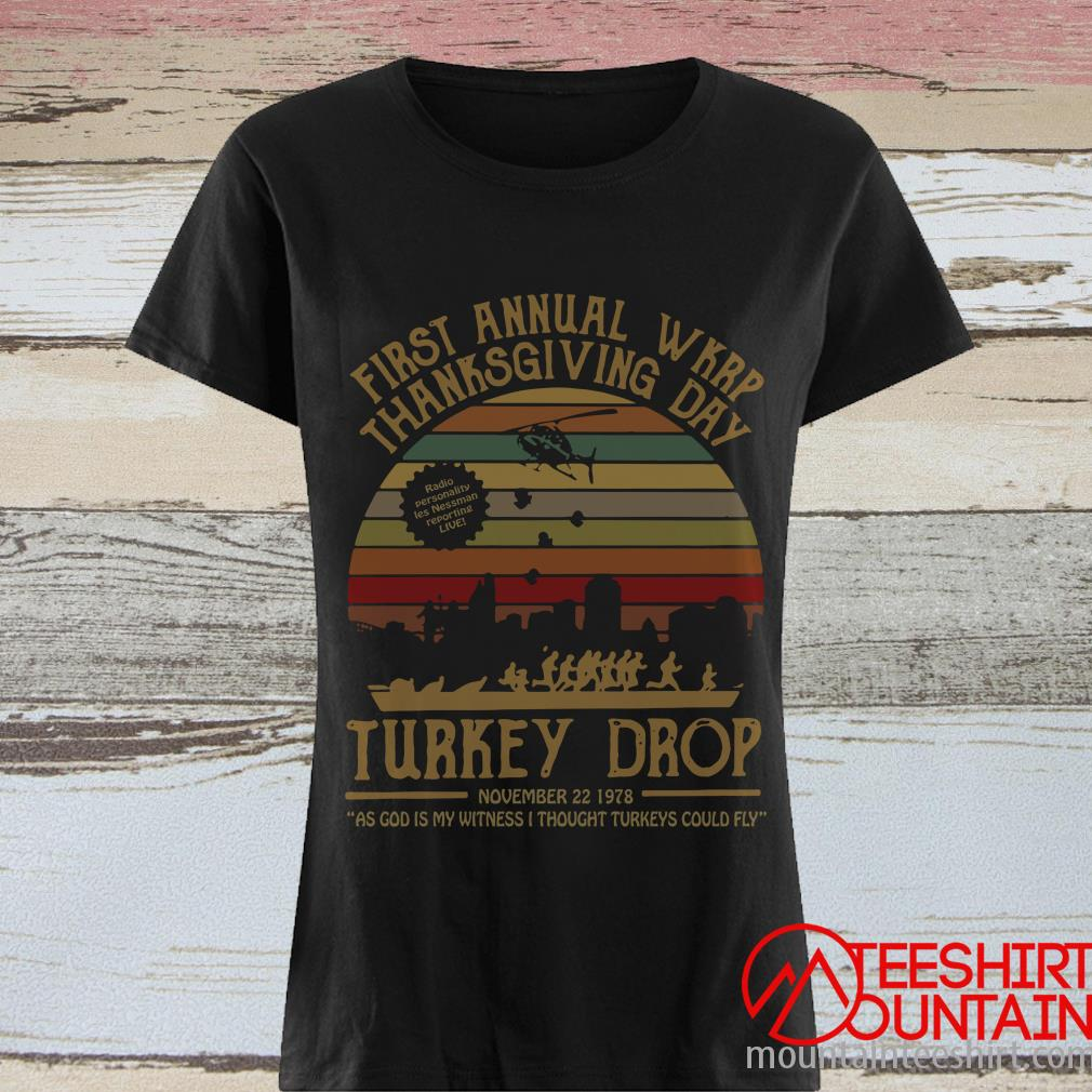First Annual Wkrp Thanksgiving Day Turkey Drop Vintage Shirt