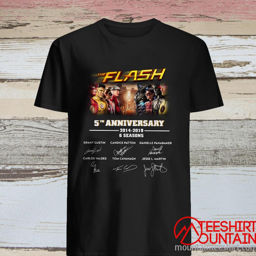 The Flash 5Th Anniversary 2014-2019 6 Seasons Signature Shirt