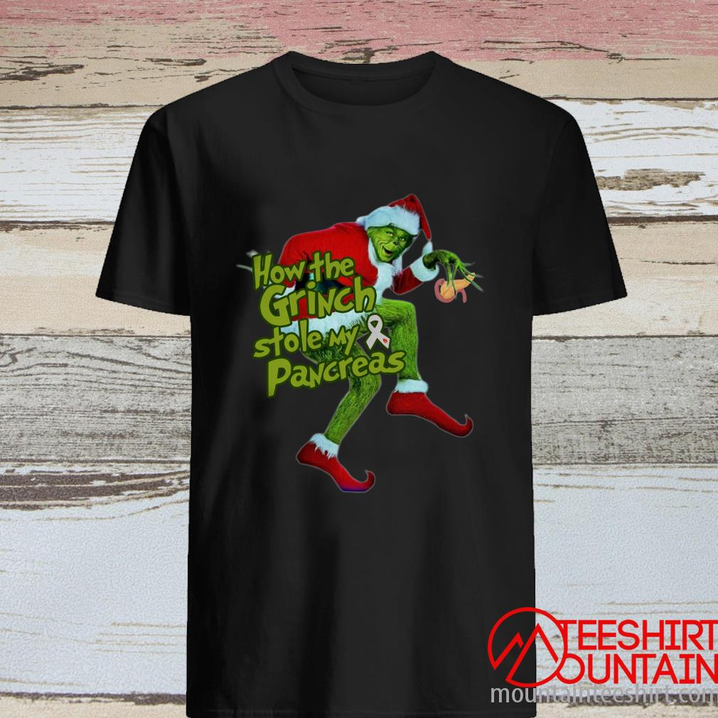 How The Grinch Stole My Pancreas Cancer Christmas Shirt