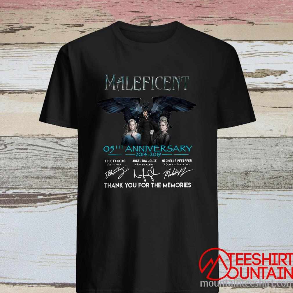 Maleficent 05Th Anniversary 2014-2019 Thank You For The Memories Signature Shirt