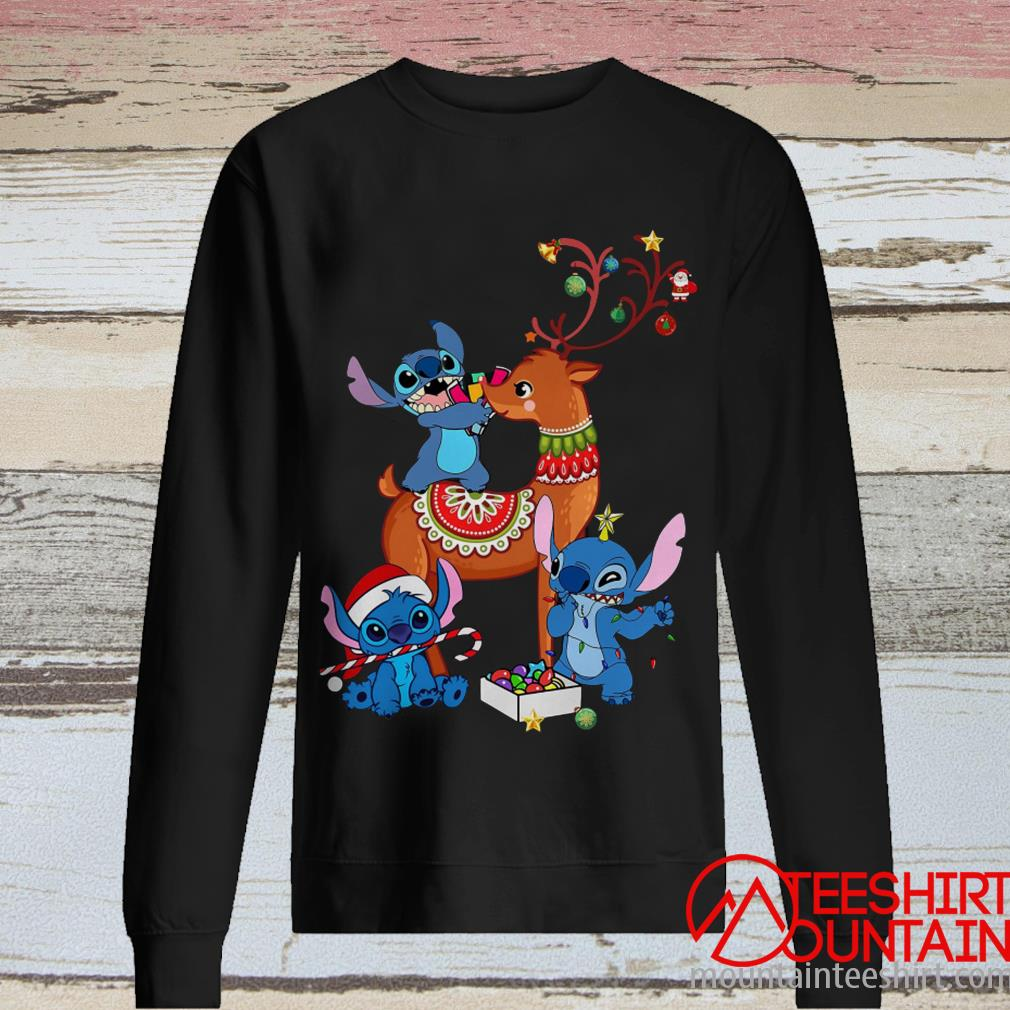 Stitch and Reindeer Cute Christmas Sweatshirt