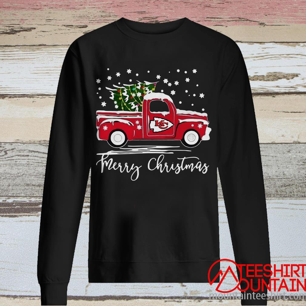 Merry Christmas Kansas City Chiefs Truck Sweatshirt
