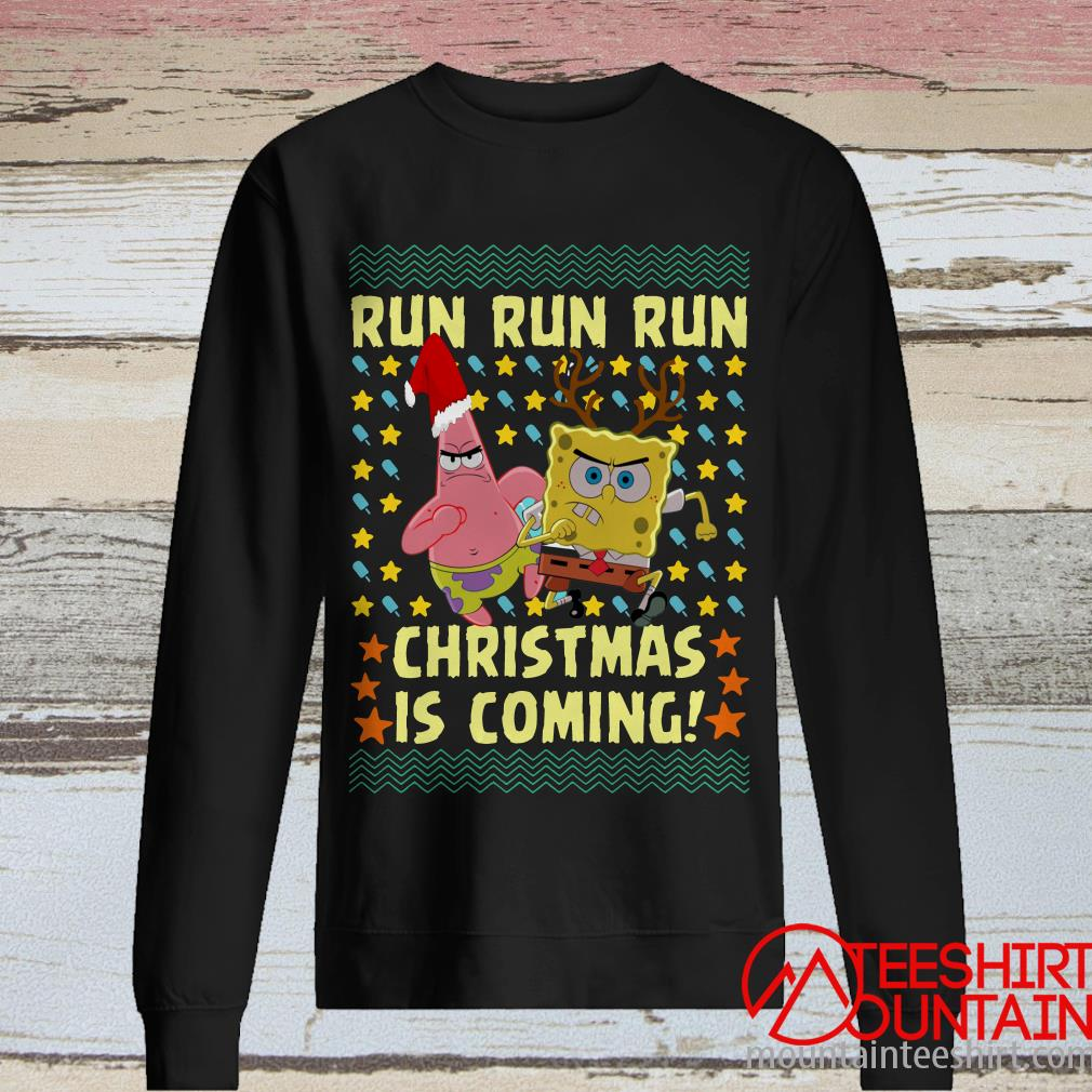 Spongebob Patrick Star Christmas Is Coming Ugly Sweater