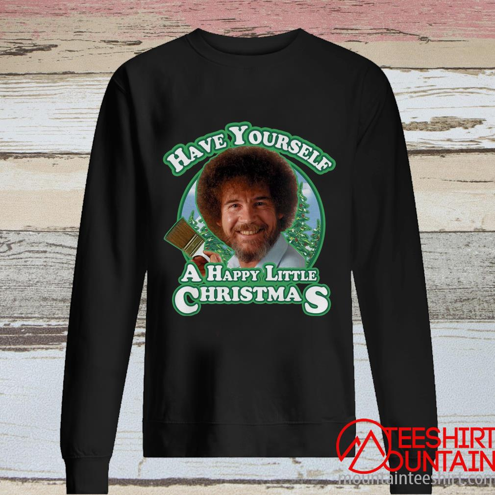 Bob Ross Have Yourself A Happy Little Christmas Sweater