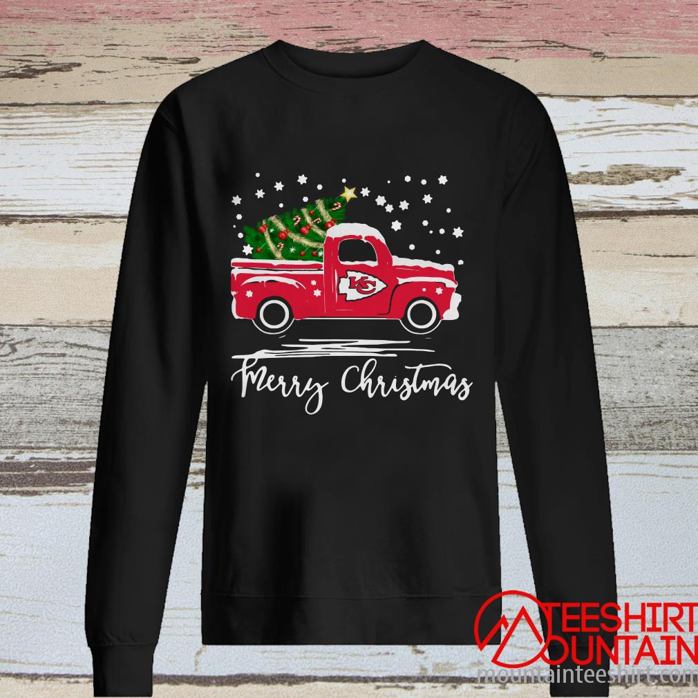 Kansas City Chiefs Pickup Truck Merry Christmas Sweatshirt