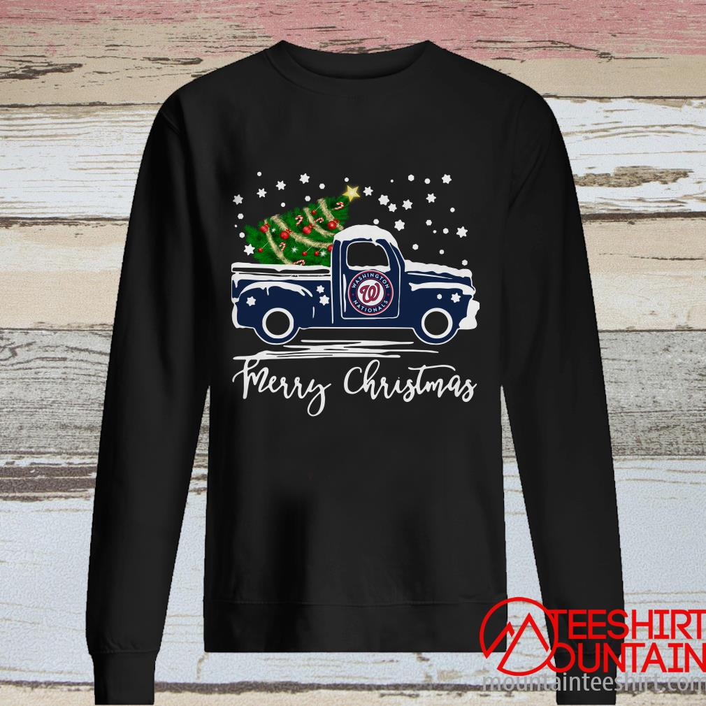 Washington Nationals Pickup Truck Merry Christmas Sweatshirt