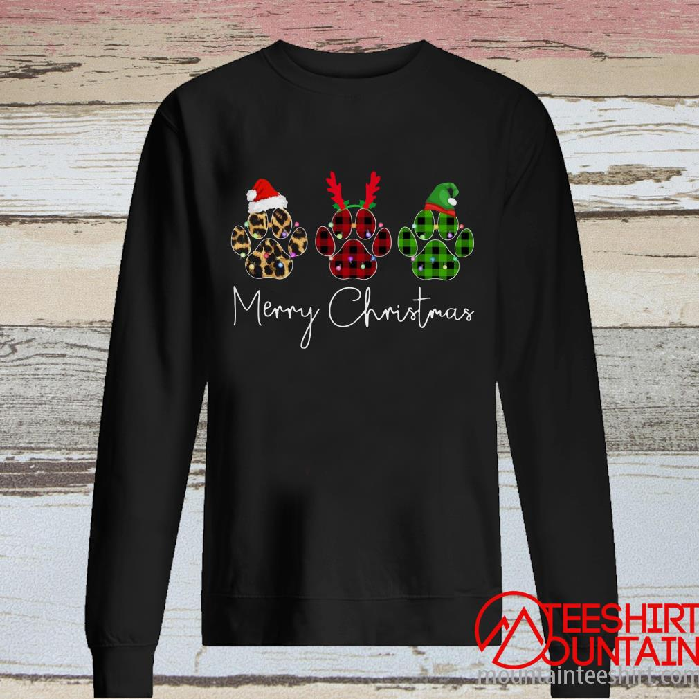 Merry Christmas Paw Sweatshirt