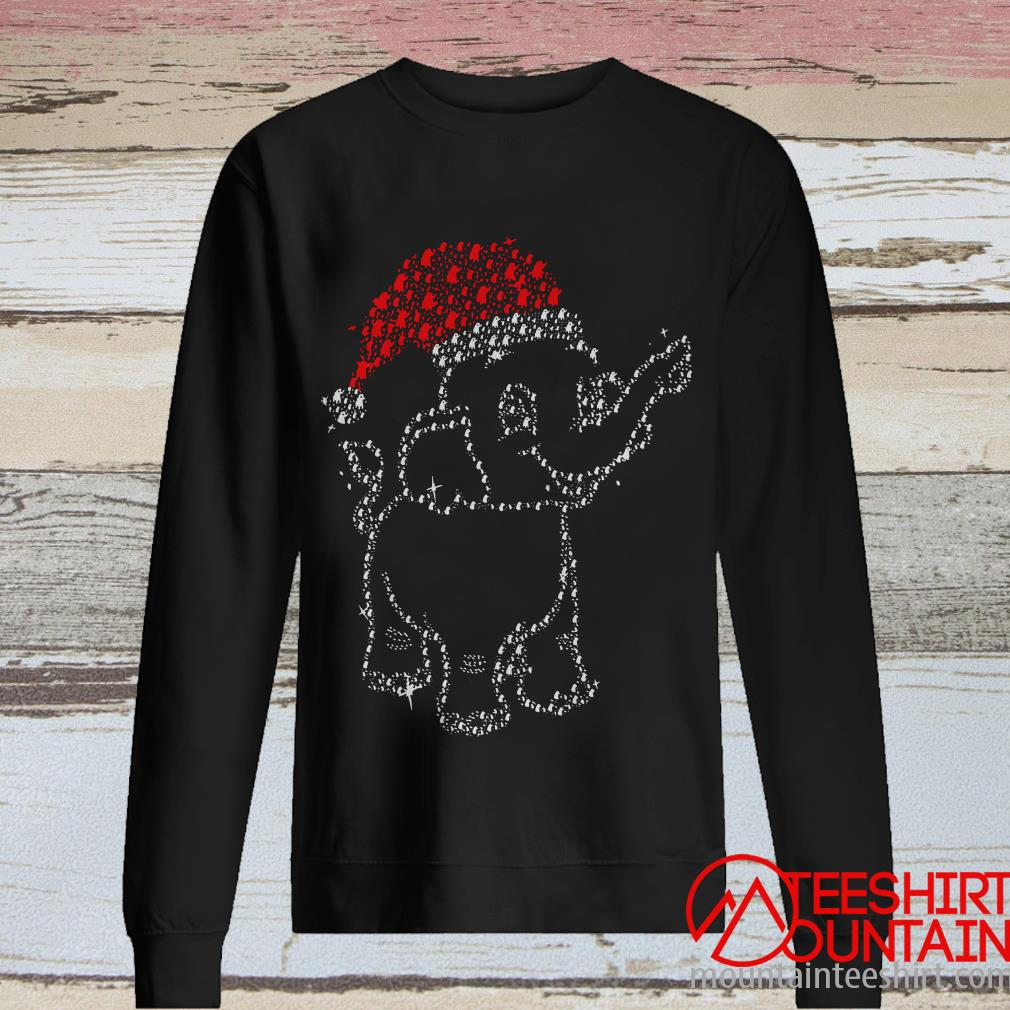 Santa Claus Elephant Diamonds Christmas Sweater