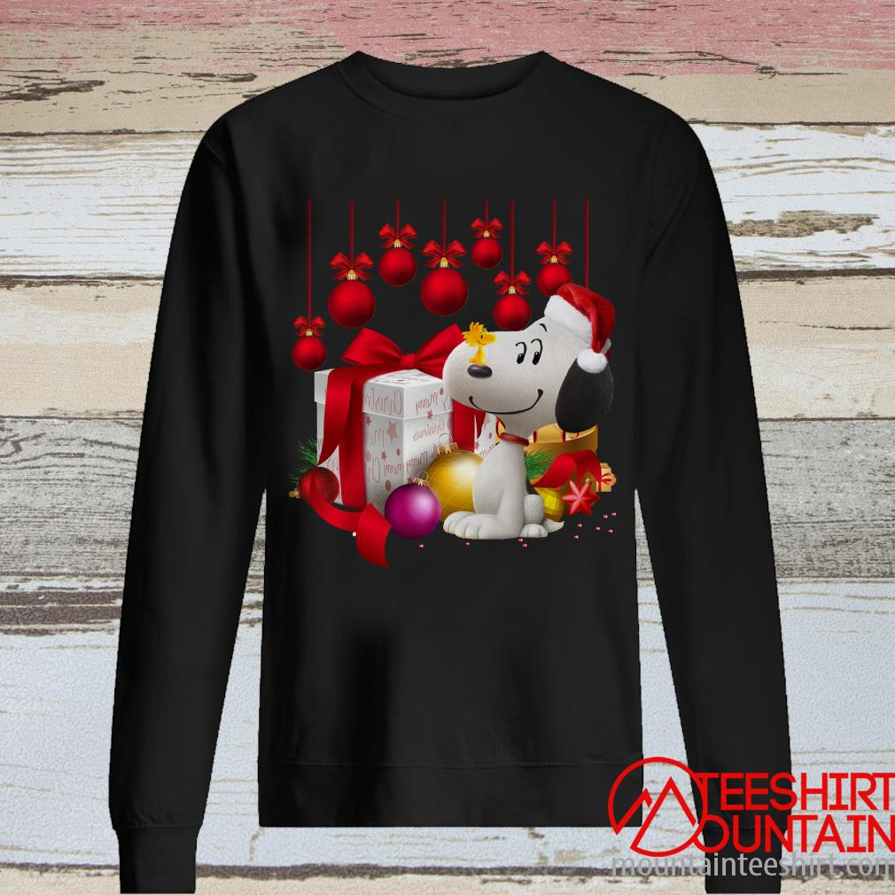 Santa Snoopy and Woodstock Merry Christmas Ugly Sweatshirt