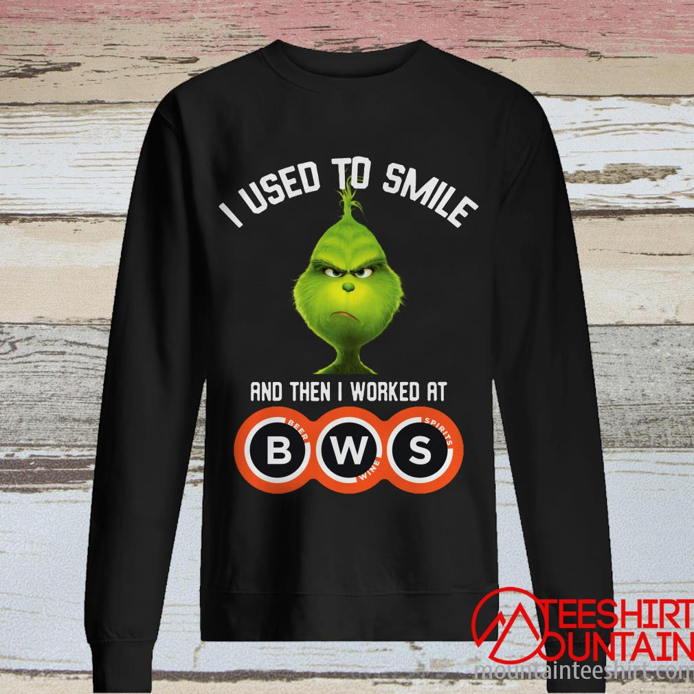 Grinch I Used To Smile And Then I Worked At Beer Wine Spirits Shirt