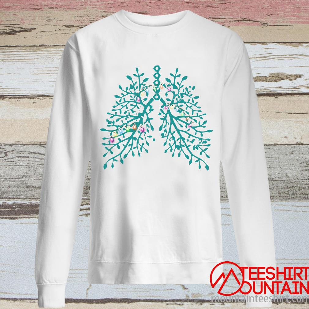 Structure Of The Lung Light Christmas Sweater