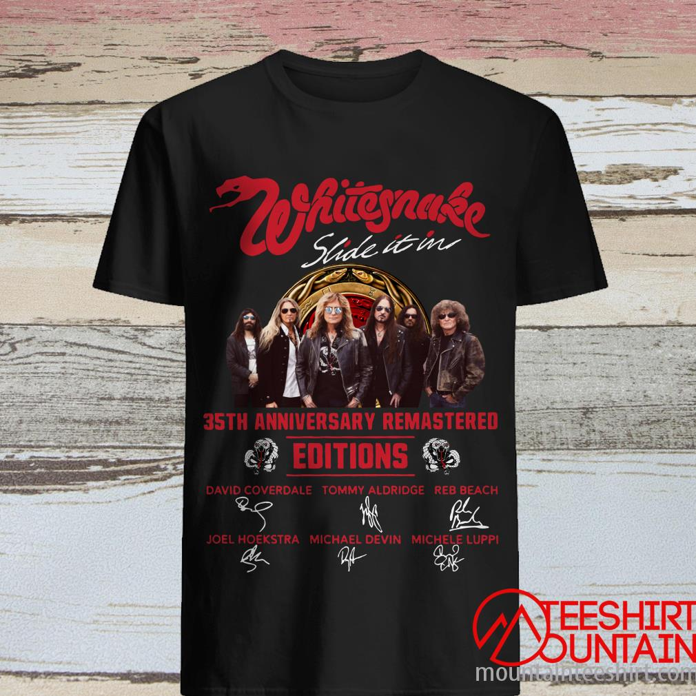 Whitesnake Slide It In 35Th Anniversary Remastered Edition Signature T-Shirt