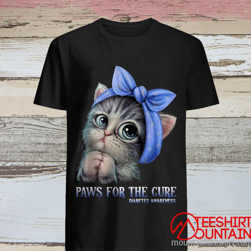 Cat Paws for The Cure Diabetes Awareness Shirt