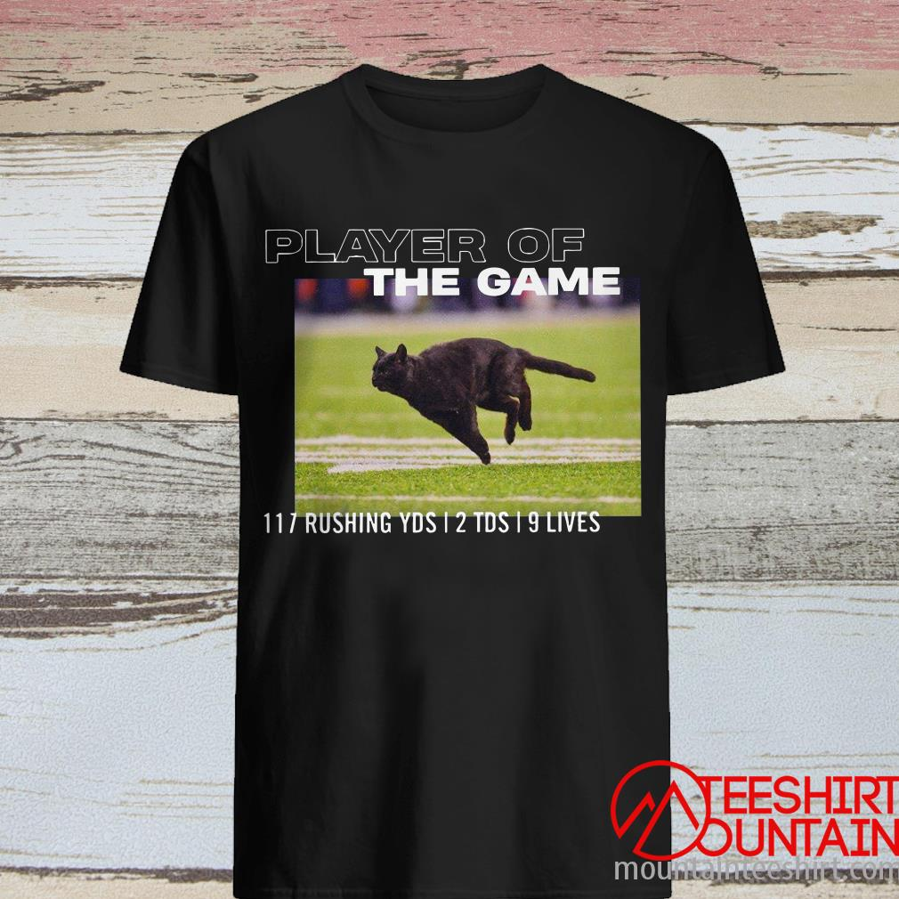 Black Cat Bicolor Player Of The Game 117 Rushing YDS 12 TDS 19 Lives Shirt