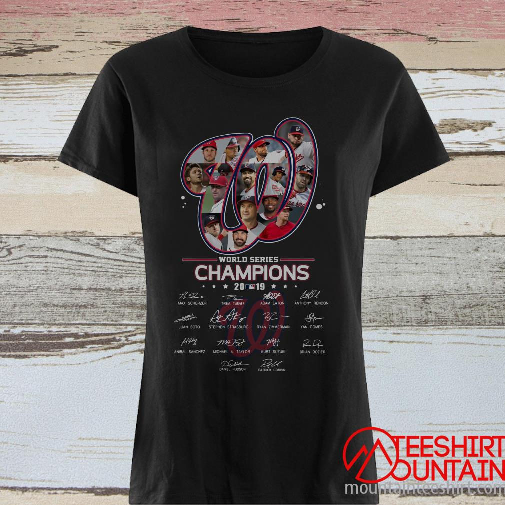 Washington Nationals World Series Champions 2019 Signature Shirt