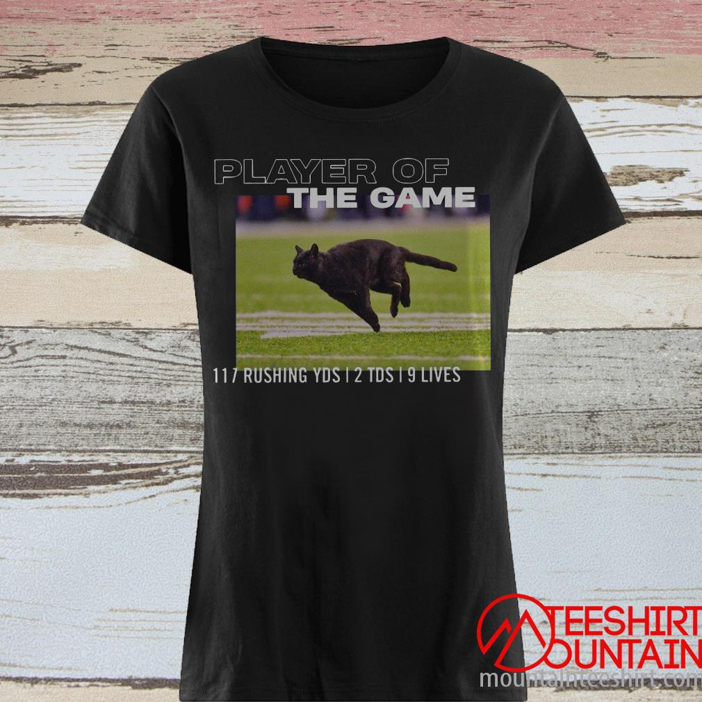 Black Cat Bcolor Player Of The Game 117 Rushing YDS 12 TDS 19 Lives Shirt