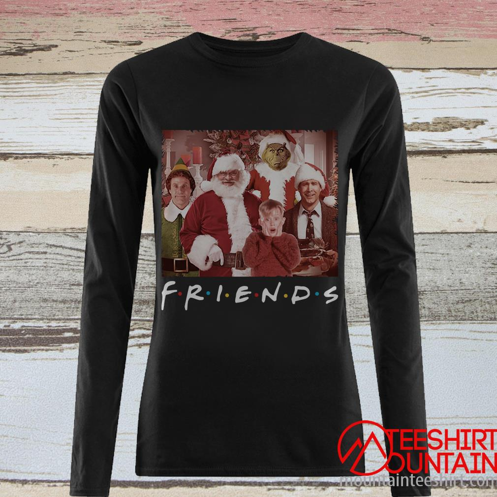 Friends Tv Show Christmas Santa Movie Characters Sweatshirt