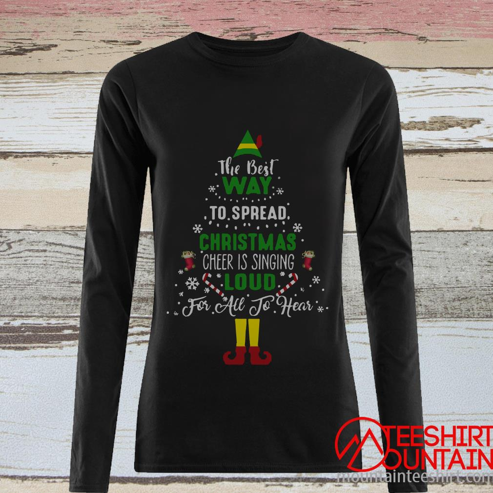 ELF Squad Christmas The Best Way To Spread Tree Sweater
