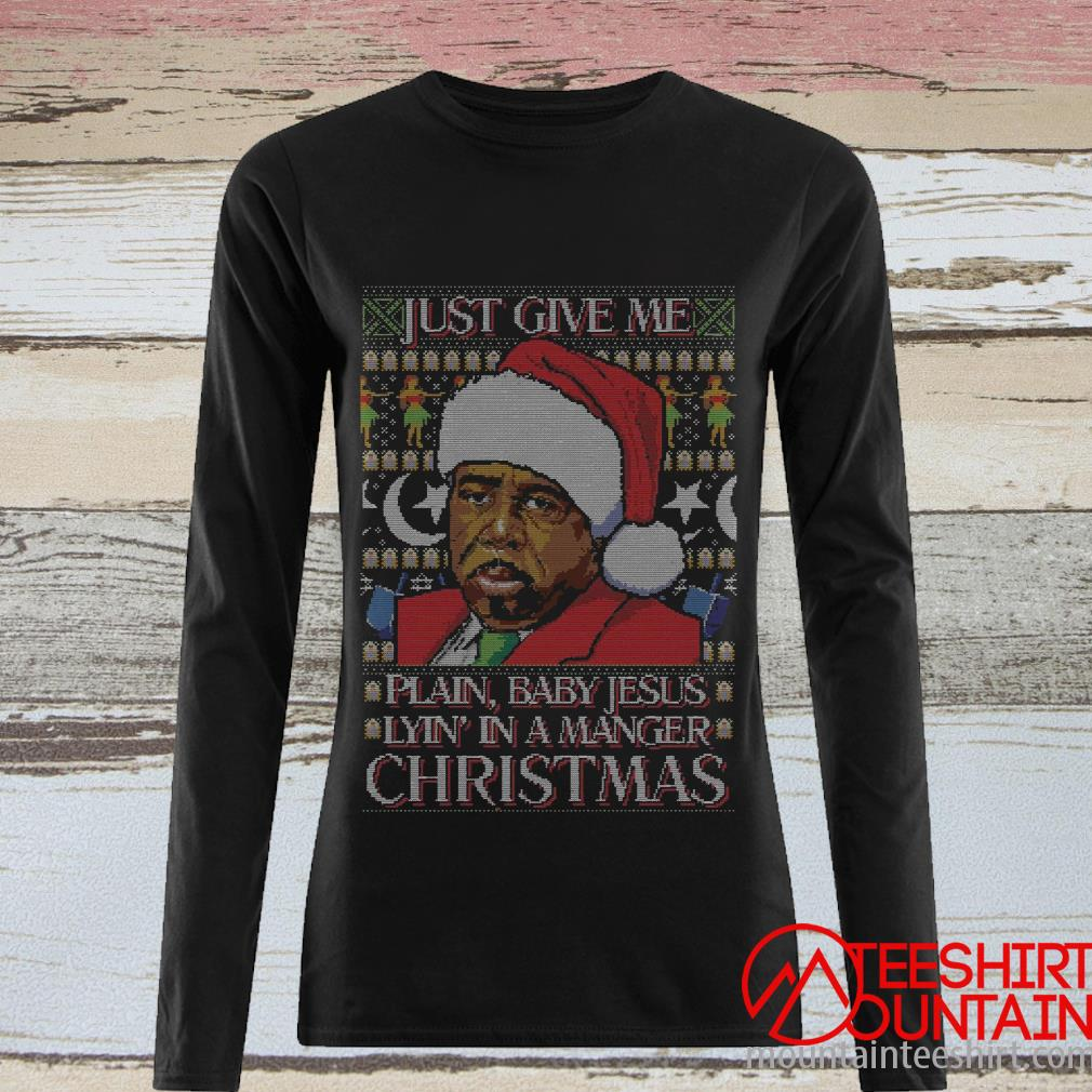 Just Give Me Plain, Baby Jesus Lyin In A Manger Christmas Sweater