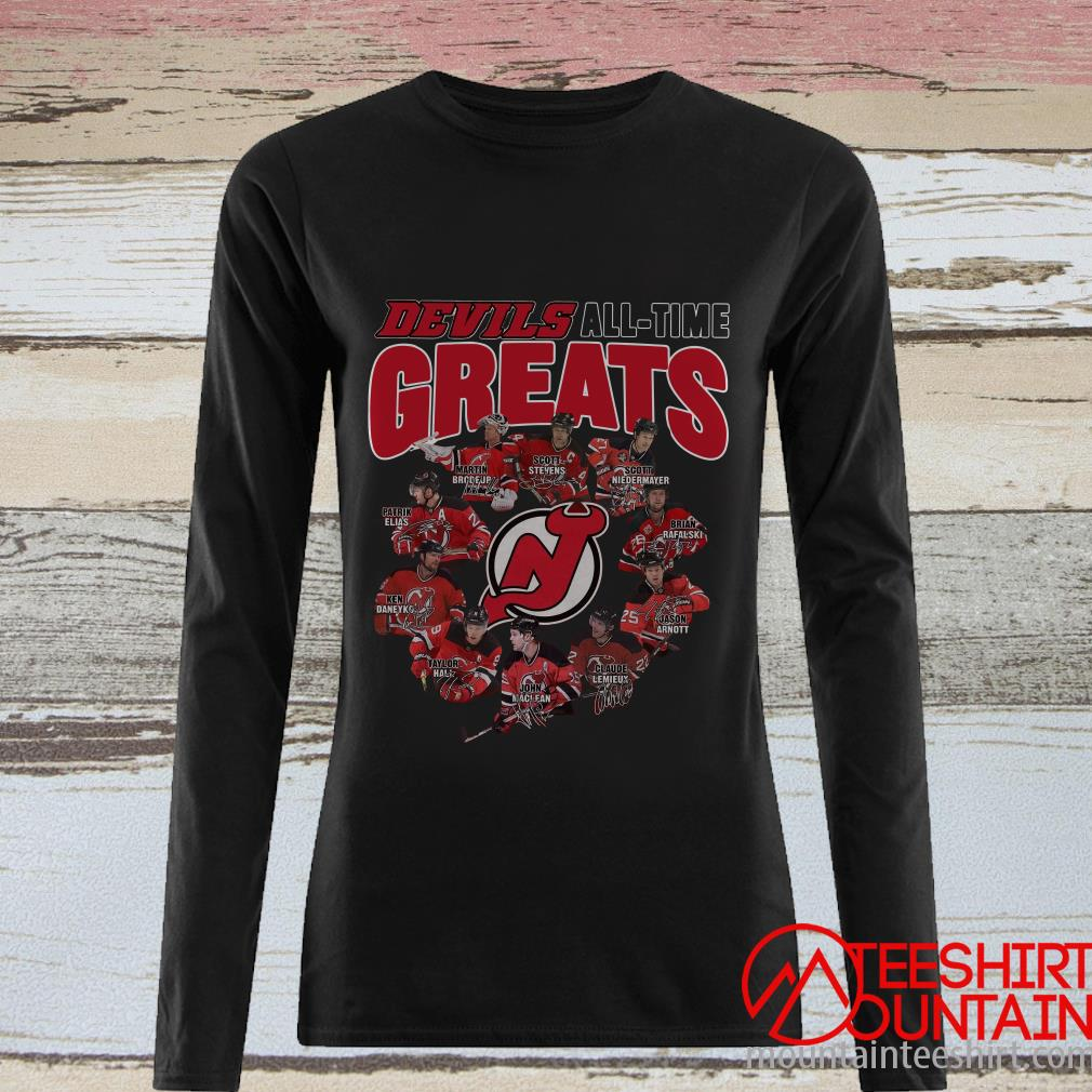 Original New Jersey Devils All Time Greats Signatures T-Shirt