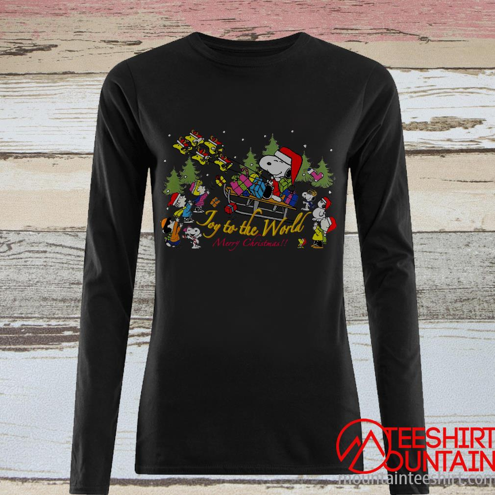 The Peanuts Movie Santa Snoopy Joy To The World Merry Christmas Sweatshirt