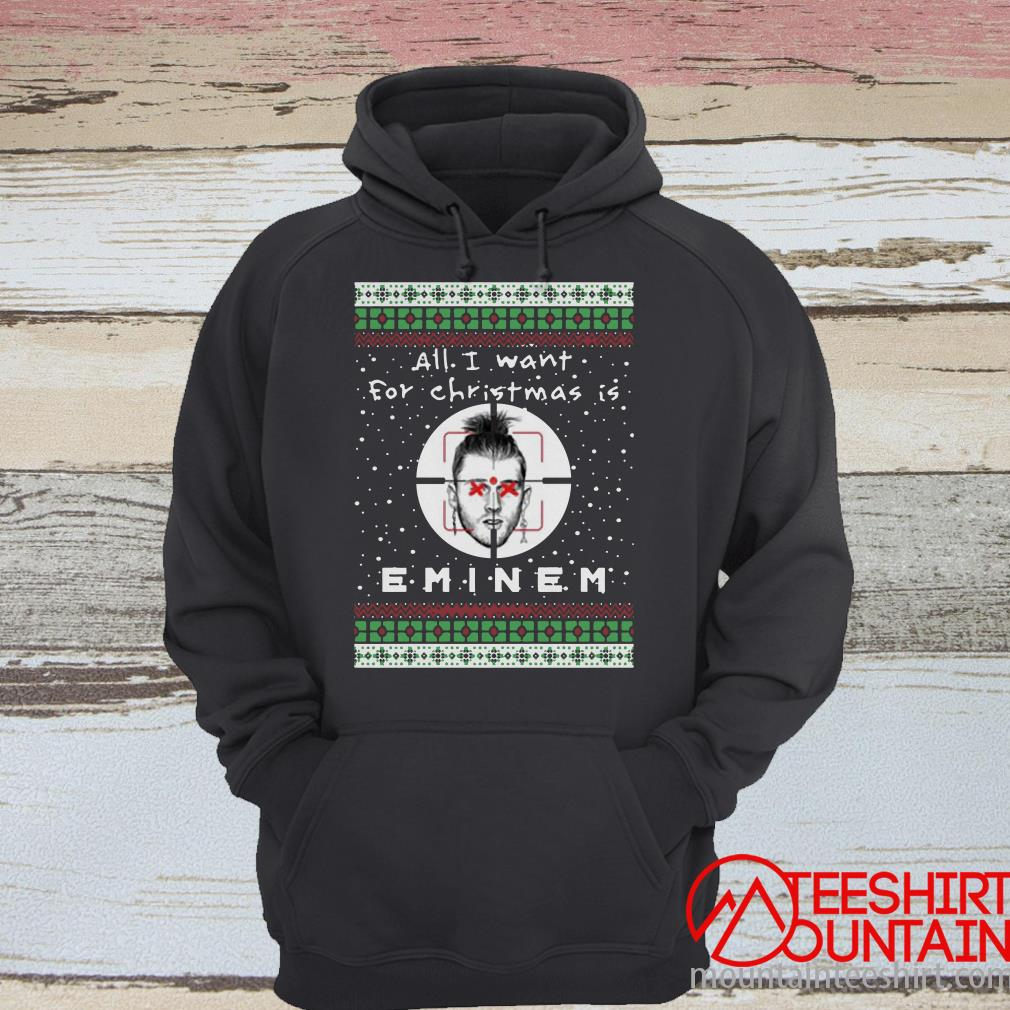 All I Want For Christmas Is Eminem Rapper Ugly Sweater