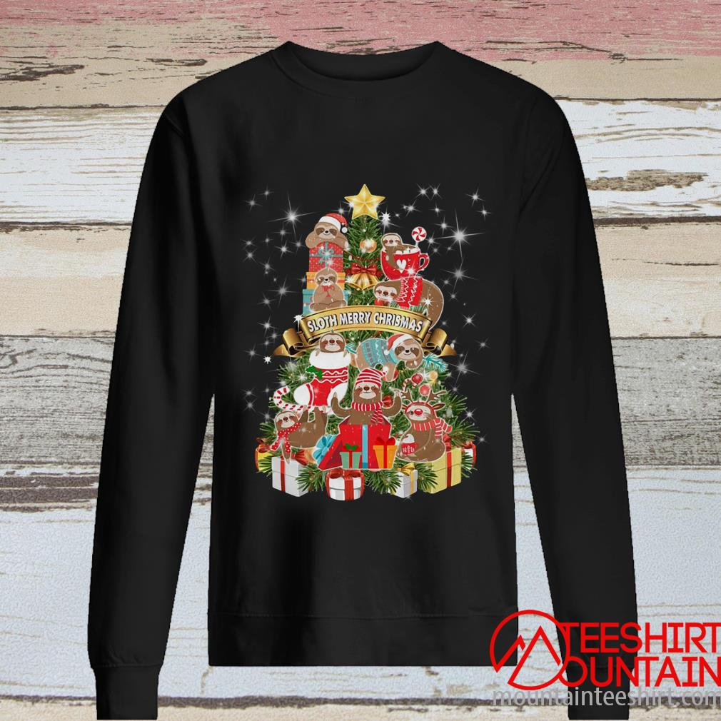 Sloth Merry Christmas Tree Sweatshirt