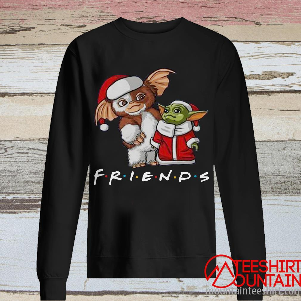Baby Yoda and Baby Gizmo Santa Friends Christmas Sweater